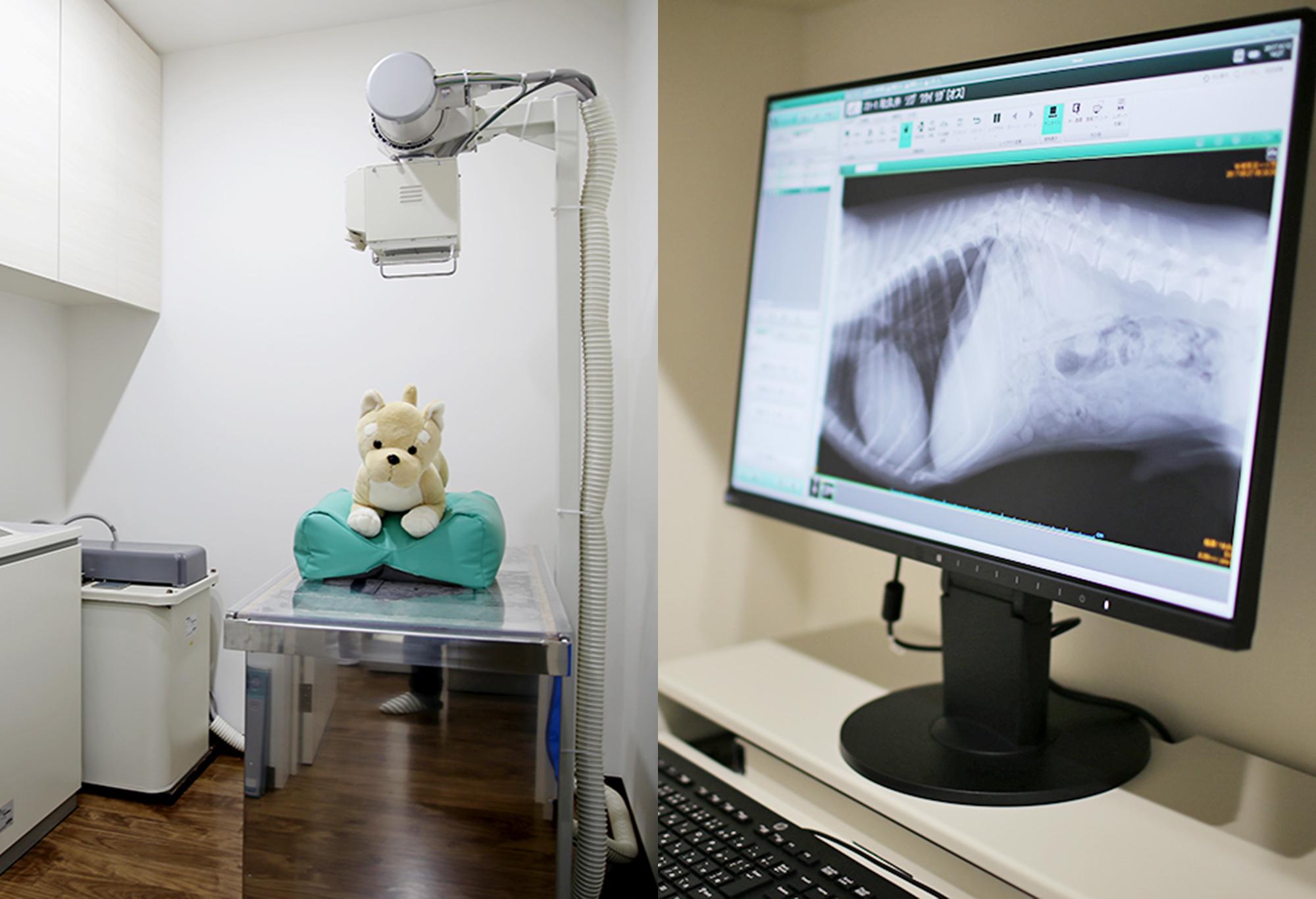 【デジタルレントゲン】<br /> コンピュータに映し出され、詳細な診断が可能です。内容はすべて電子カルテに記録されます。